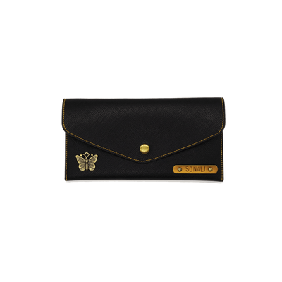 Personalized Women's Wallet - Black Womens Wallet
