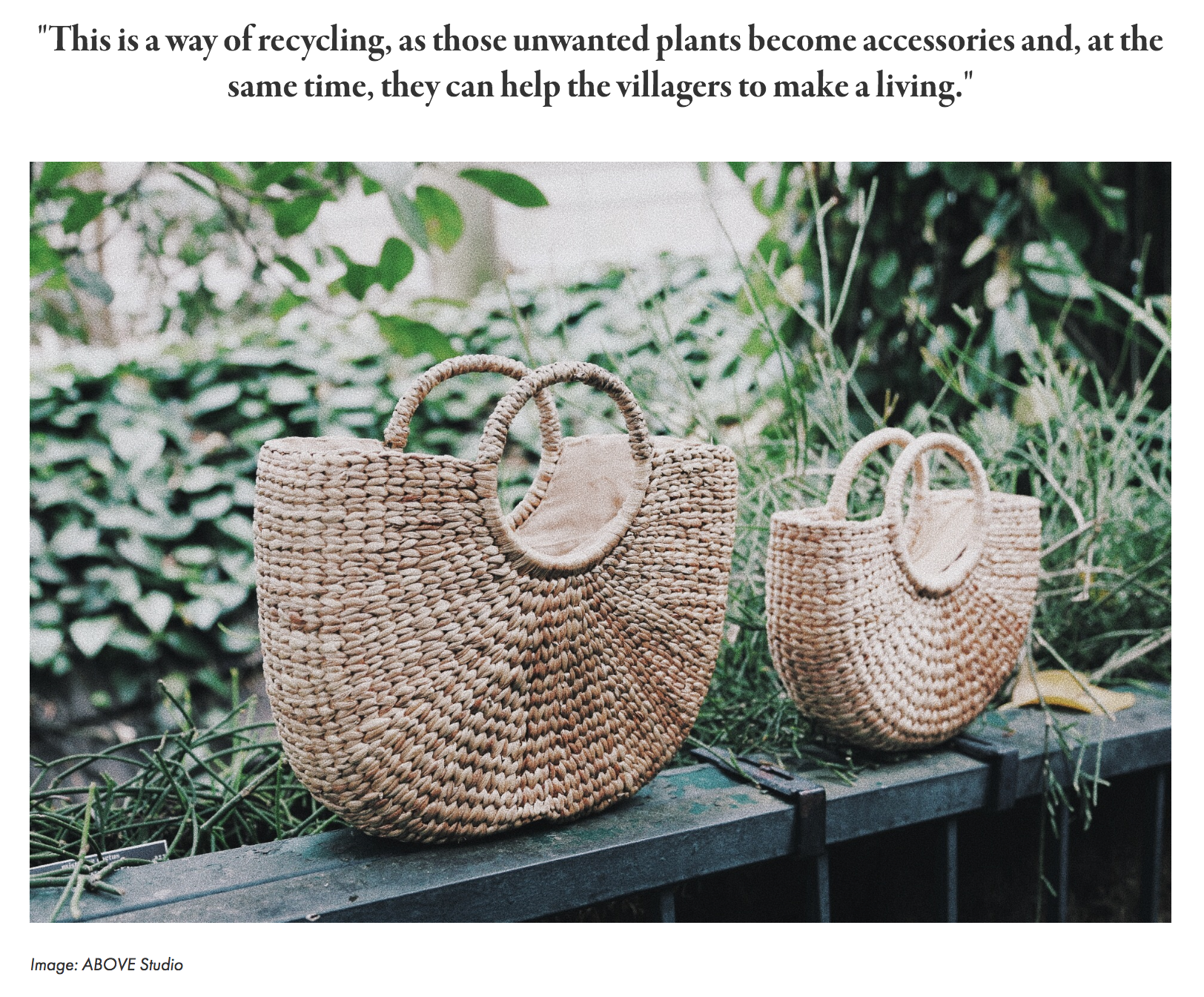 SAVANT MAGAZINE : ABOVE Studio: Ethically Crafted Accessories Cherishing the Beauty of Thailand