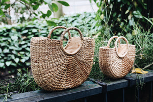 ABOVE I Summer Market Basket Bag - Natural