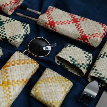 Colored Woven Pencil Cases (4 Colors)