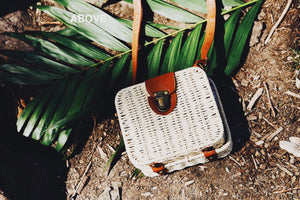 Square Cross Body Woven Bag - Natural