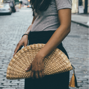 ABOVE I Summer Straw Clutch - Natural