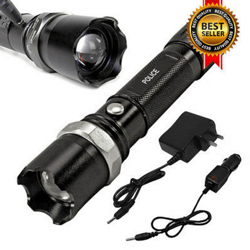 Tactical Police Heavy Duty 3W Rechargeable LED Flashlight