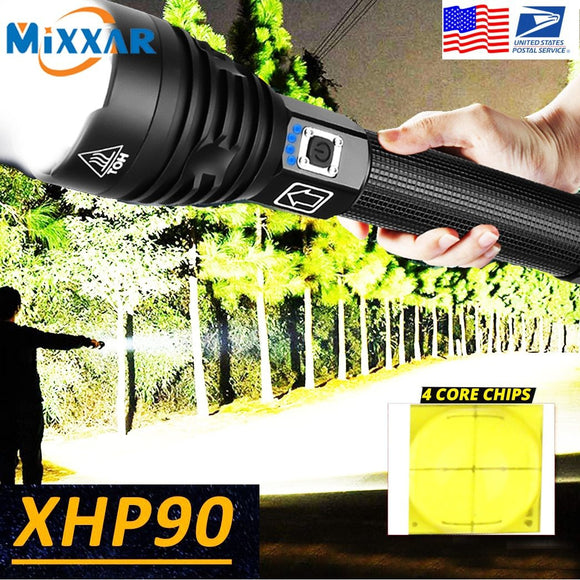 Tactical Flashlight With Brilliant LED Zoom | Rechargeable Handheld Flashlight
