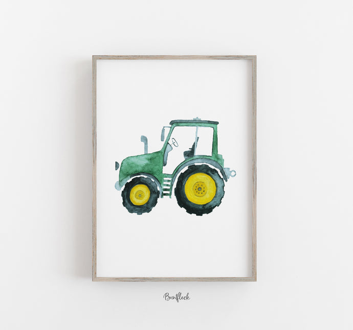 Kleiner Traktor - in Aquarell