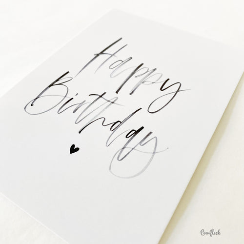 Postkarte/Karte - Happy Birthday