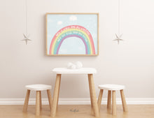 Laden Sie das Bild in den Galerie-Viewer, Kinderbild / Poster - Regenbogen