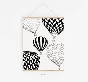 "Kunstdruck ""hot air balloons"""