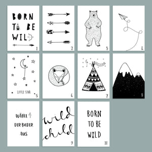 "Kinderplakat/Poster 4er Set ""Wildlife"""
