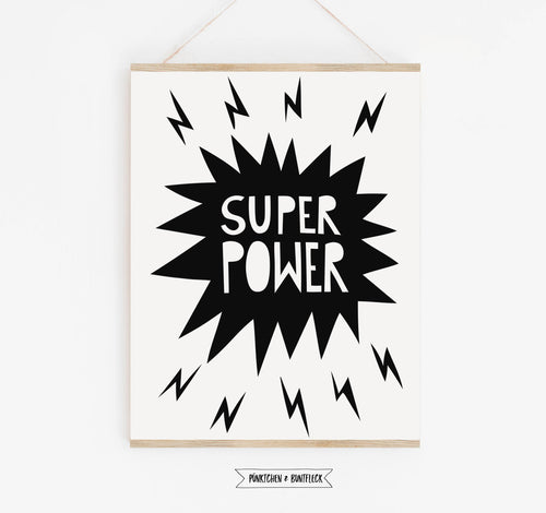 Kinderplakat/Poster 2er Set   - superpower & boom