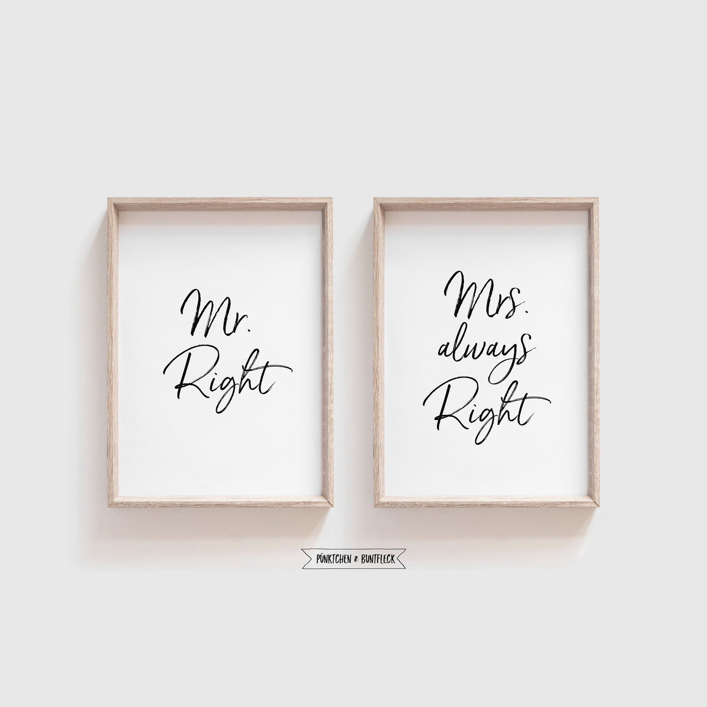 Kunstdruck/Poster 2er Set - Mr.&Mrs Right