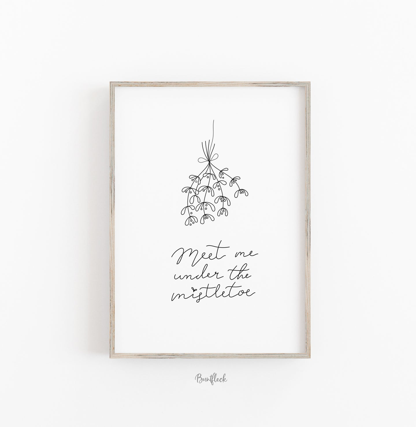 Kunstdruck/Poster-Meet me under the mistletoe