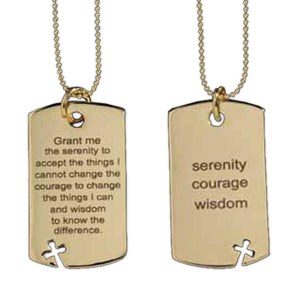 SERENITY DOG TAG NECKLACE