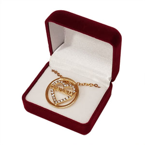 GRANDMA CRYSTAL GOLD NECKLACE
