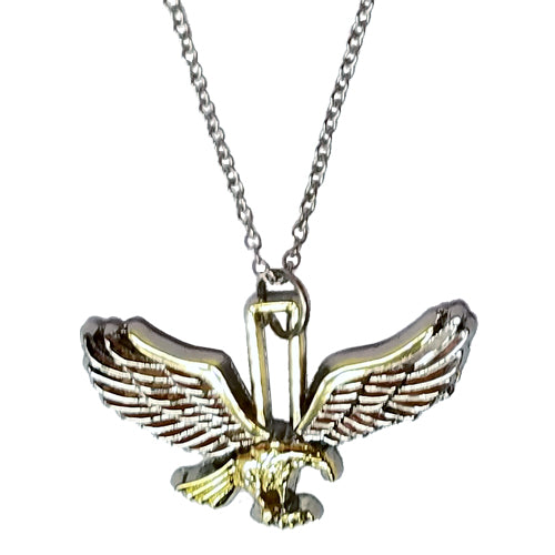 TWO-TONE EAGLE NECKLACE
