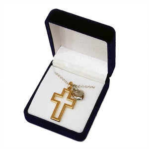 FAITH & LOVE CROSS NECKLACE