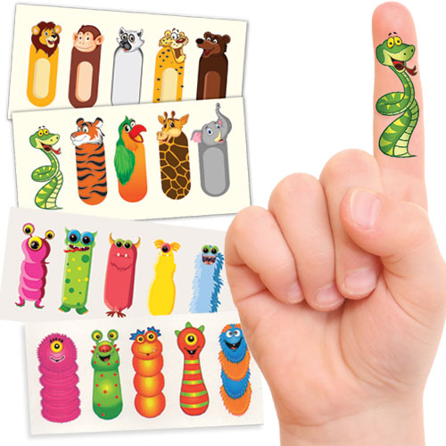 MONSTER ZOMBIE FINGER TATTOOS