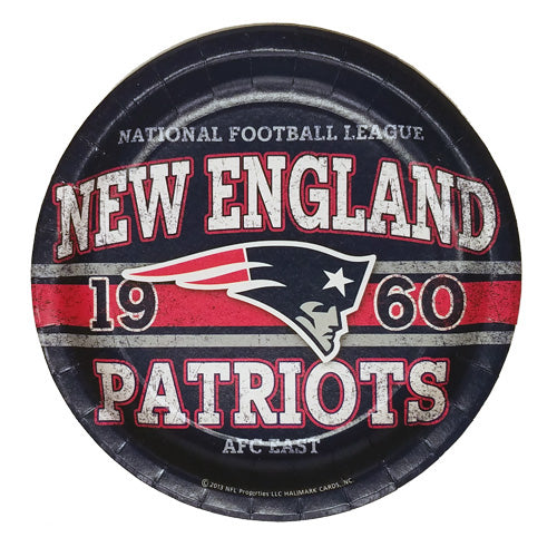 PATRIOTS PARTY PLATES 8-PACK