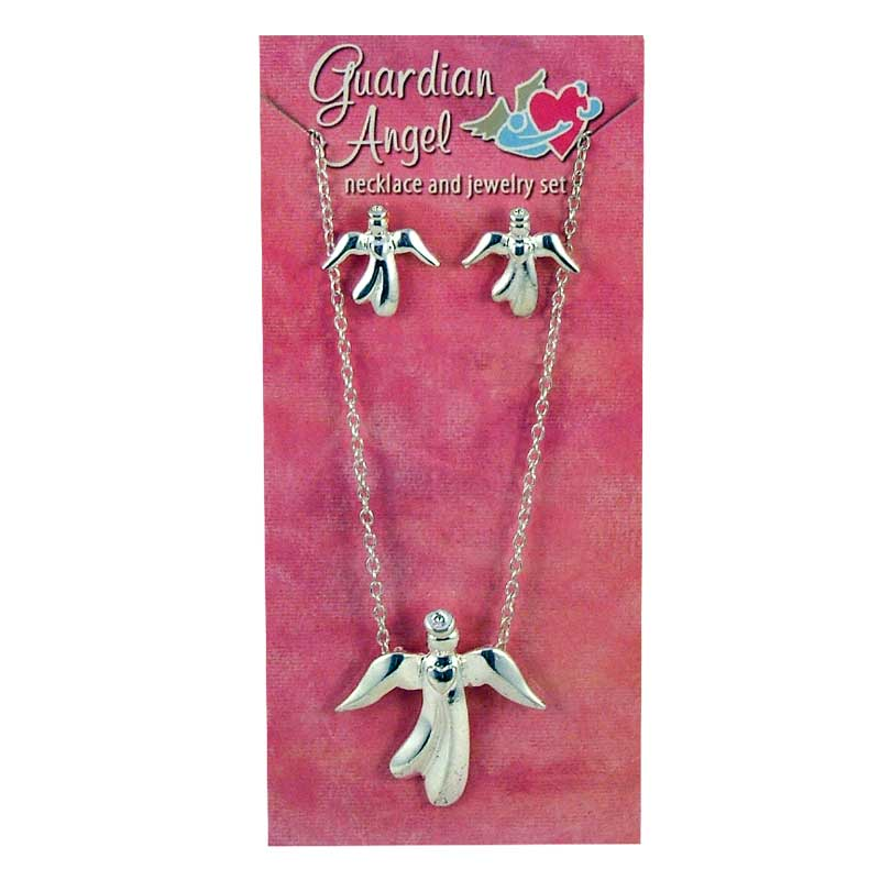 GUARDIAN ANGEL EARRING/NECKLACE SET - 18