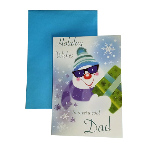 DAD HOLIDAY WISHES CARD