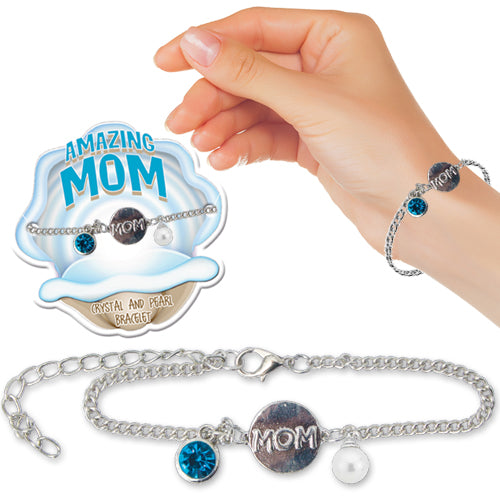 AMAZING MOM PEARL BRACELET