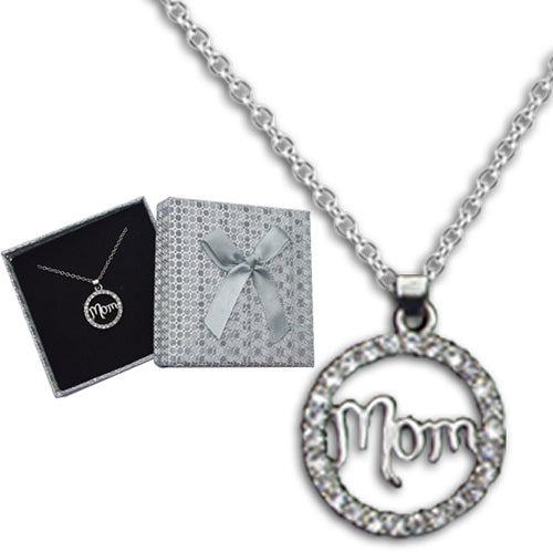 MOTHER CRYSTAL CIRCLE NECKLACE