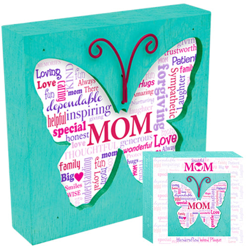 MOM BUTTERFLY PLAQUE