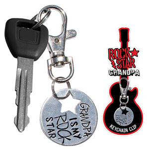 ROCK STAR GRANDPA KEYCHAIN