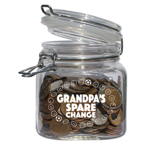 GRANDPA'S SPARE CHANGE JAR
