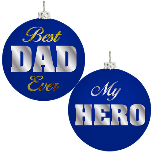 BEST DAD CHRISTMAS ORNAMENT