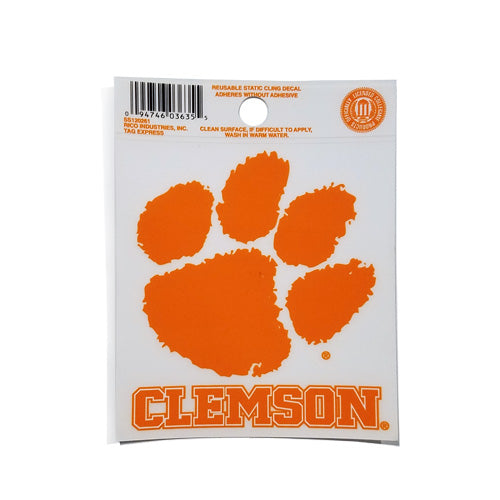 CLEMSON WINDOW CLING