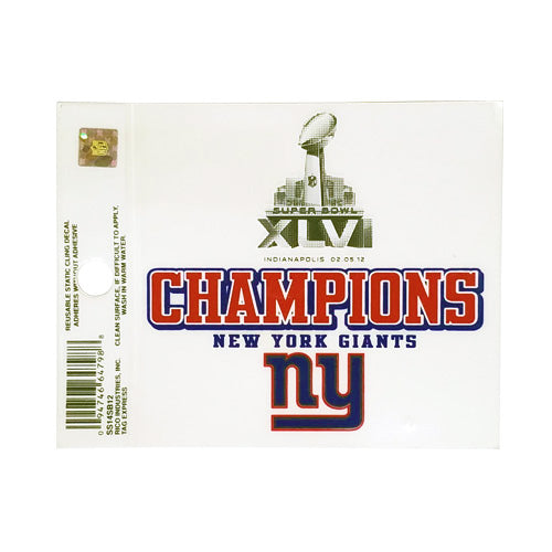 GIANTS WINDOW CLING