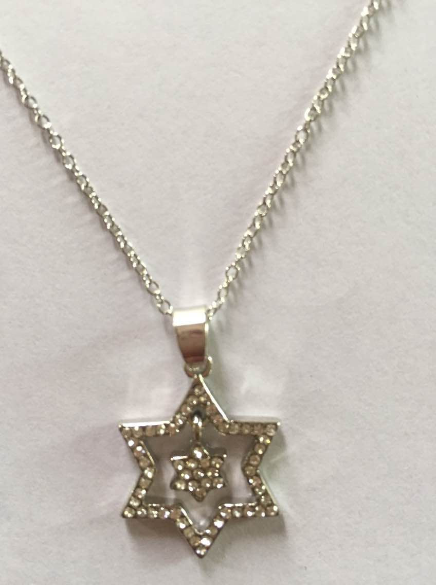 DOUBLE STAR CRYSTAL NECKLACE