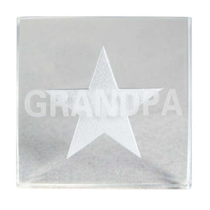 "GRANDPA ""YOU'RE MY STAR"" GLASS PAPERWEIGHT"