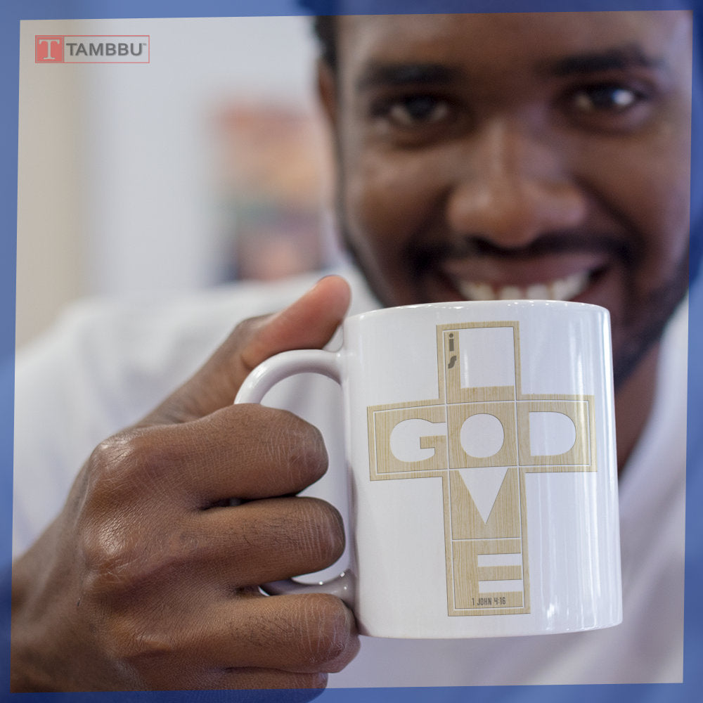 God Is Love Cross Mug
