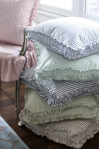 The Boxed Double Ruffle Pillow Collection