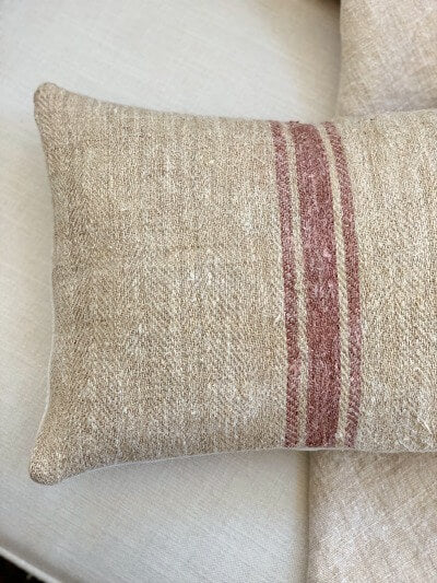 Vintage European Grain Sack Envelope Pillow Cover