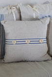 Oatmeal Linen Three Button - Pillow Cover