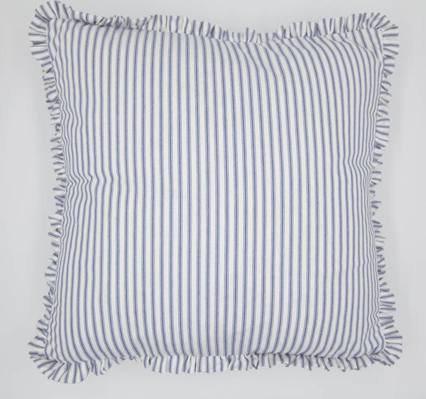 Boxed Double Ruffle Pillow Cover - Blue