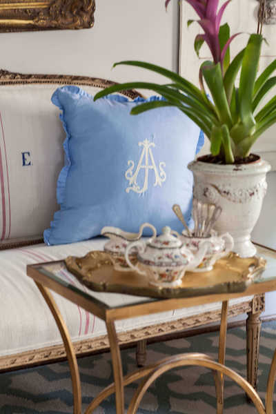 Luxury Collection - Stitched Monogram European Linen Pillow