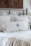 Monogram Flounce King Pillow Sham