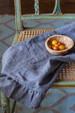 Linen Tea Towel - dark gray