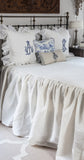 Long Drop Osnaburg Bed Spread - 3 sizes, any length