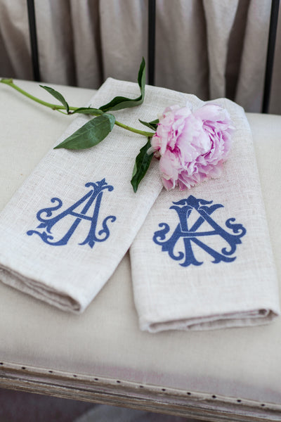 Monogramed Finger Towels - Set of Two