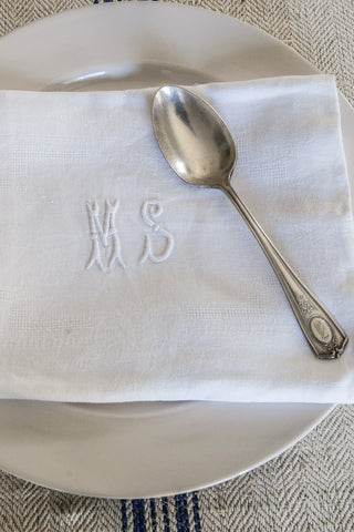 Antique Monogram Napkins