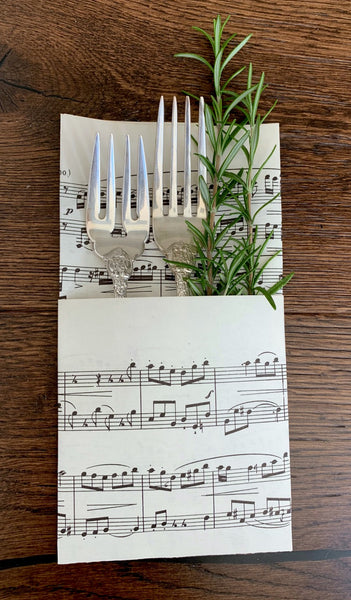 Sheet Music Pockets - for utensils, place cards & gifting