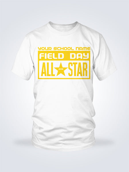 Field Day All Star Tee - 1 Color - On White