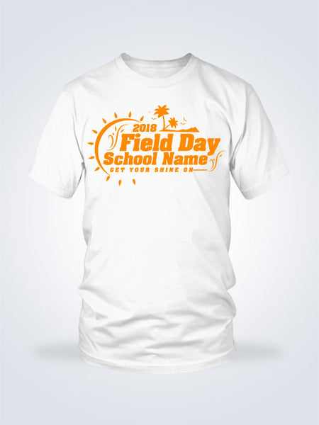 Field Day Palms Tee - 1 Color - On White