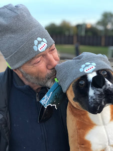 Chicago Paw Heart Beanie