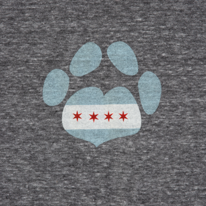 Chicago Paw Heart T-Shirt